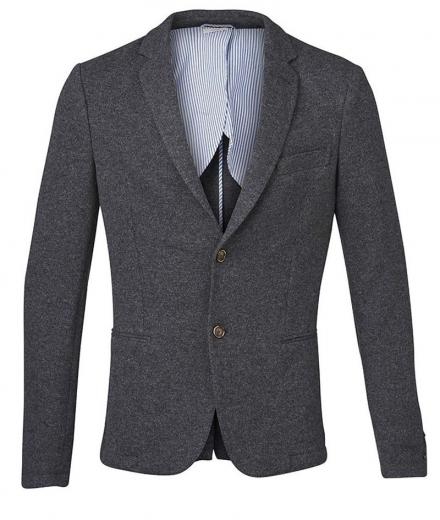 Knowledge Cotton Apparel Knitted Pique Blazer