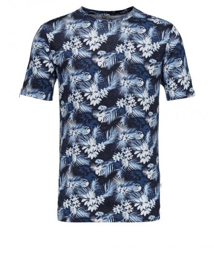 Knowledge Cotton Apparel Linen t-shirt with all over print