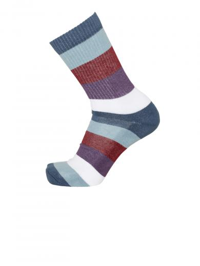 Knowledge Cotton Apparel LINDEN block striped 2 pack sock