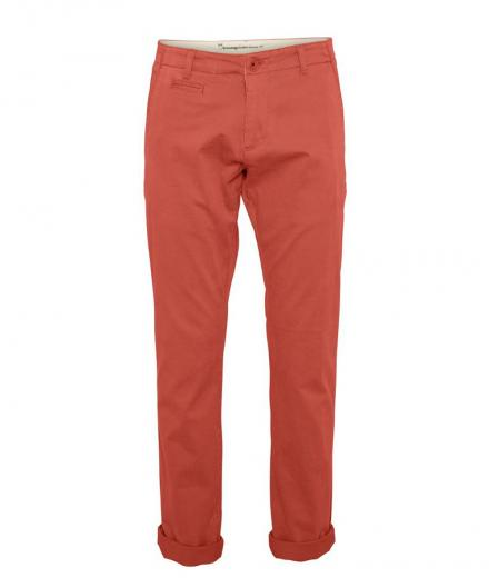Knowledge Cotton Apparel Chuck The Brain Stretch Chino Spiced Coral | 30/32