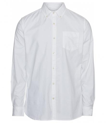 Knowledge Cotton Apparel Stretched Oxford Shirt Bright White | L