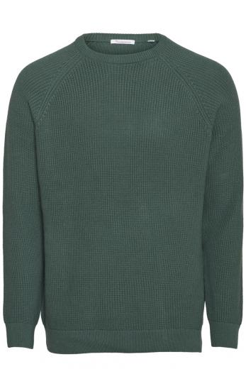 Knowledge Cotton Apparel VALLEY o-neck knit Pineneedle | L