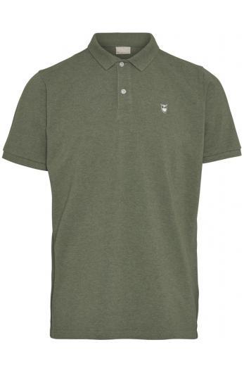 Knowledge Cotton Apparel ROWAN basic polo Green melange | L