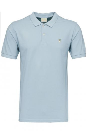 Knowledge Cotton Apparel ROWAN basic polo Sky way melange