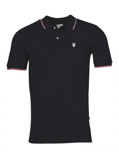 Knowledge Cotton Apparel ROWAN edge colored owl polo