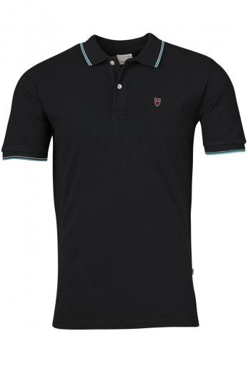 Knowledge Cotton Apparel ROWAN edge colored owl polo Total Eclipse | M