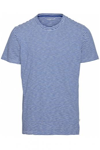 Knowledge Cotton Apparel ALDER narrow striped tee Surf the Web | L