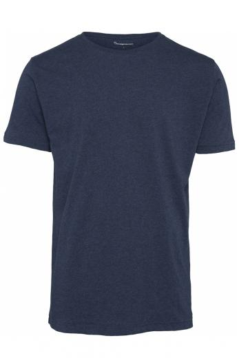 Knowledge Cotton Apparel ALDER basic tee Insigna blue melange | M