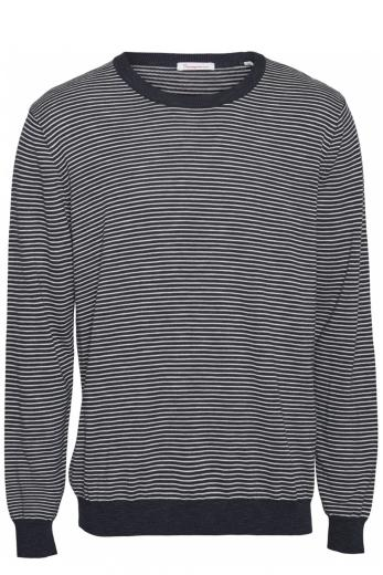 Knowledge Cotton Apparel FORREST o-neck striped tencel knit Total Eclipse