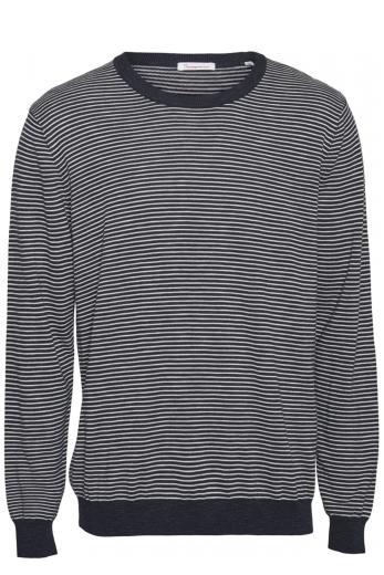 Knowledge Cotton Apparel FORREST o-neck striped tencel knit Total Eclipse   L