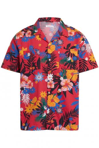 Knowledge Cotton Apparel WAVE SS flower shirt