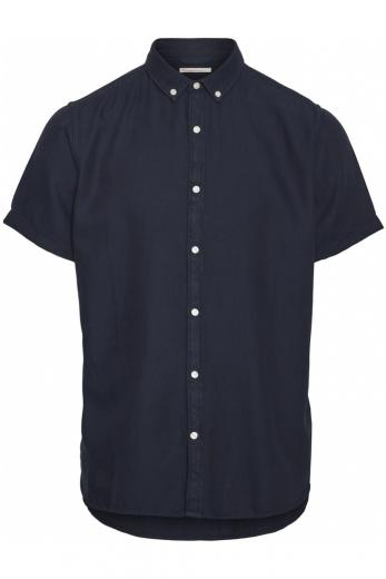 Knowledge Cotton Apparel LARCH SS tencel shirt Total Eclipse