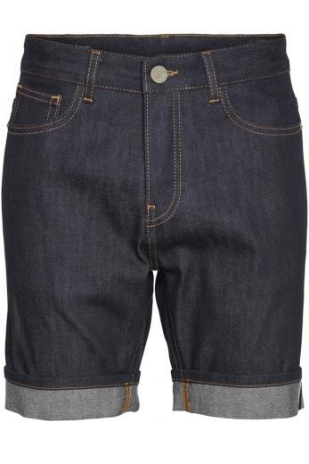 Knowledge Cotton Apparel OAK raw blue selvedge denim shorts Blue Raw