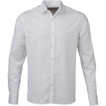 Knowledge Cotton Apparel Stretchable Shirt - GOTS Bright White | S