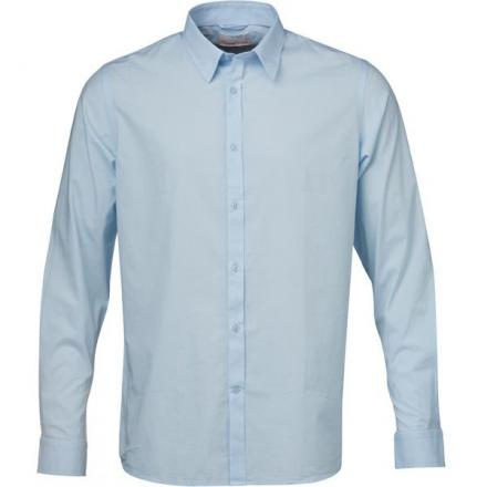 Knowledge Cotton Apparel Stretchable Shirt - GOTS Skyway | L