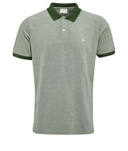 Knowledge Cotton Apparel Two Colour Polo Pique