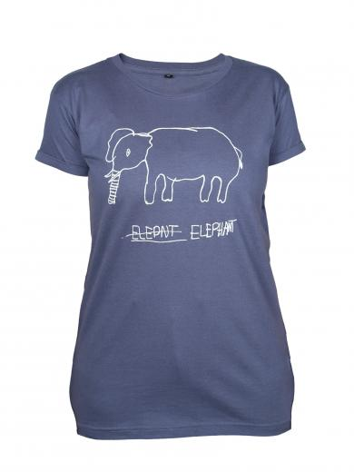 Kipepeo Clothing T-Shirt Elephant Charcoal Damen