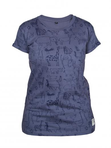 Kipepeo Clothing T-Shirt Wanyama Chorcoal Grey Damen