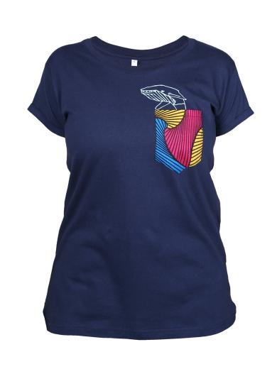 Kipepeo Clothing T-Shirt Taschentierchen Wal Navy