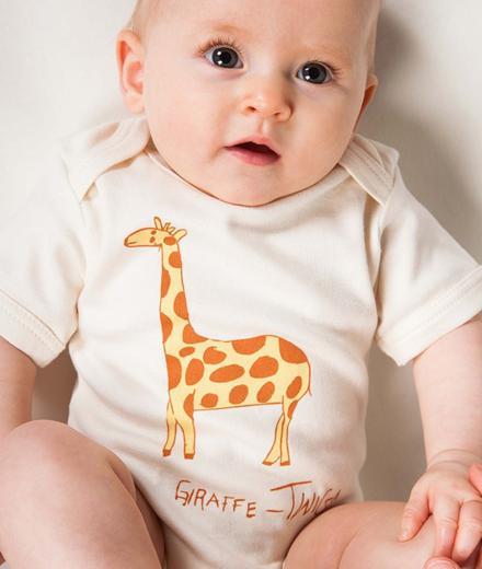 Kipepeo Clothing Baby Body Kurz Giraffe natural   6-12M