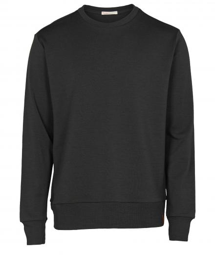 Knowledge Cotton Apparel Merino Sweat Dark Grey Melange