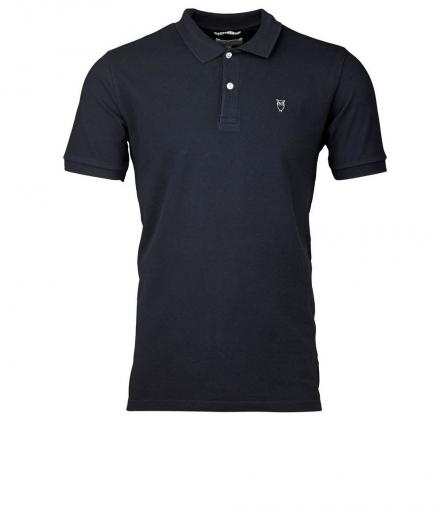 Knowledge Cotton Apparel Pique Polo GOTS Total Eclipse | M