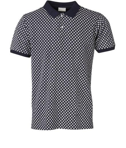 Knowledge Cotton Apparel Pique Polo W/Dot Print GOTS