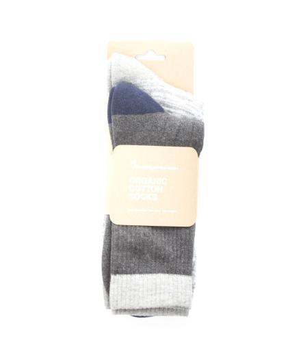 Knowledge Cotton Apparel Tennis Sock 2-Pack Dark Grey Melange | 43-47