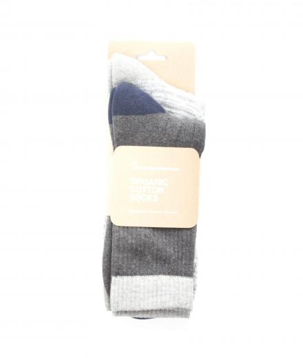 Knowledge Cotton Apparel Tennis Sock 2-Pack Dark Grey Melange | 38-42