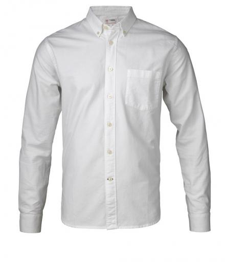 Knowledge Cotton Apparel Button Down Oxford Shirt GOTS Bright White | L