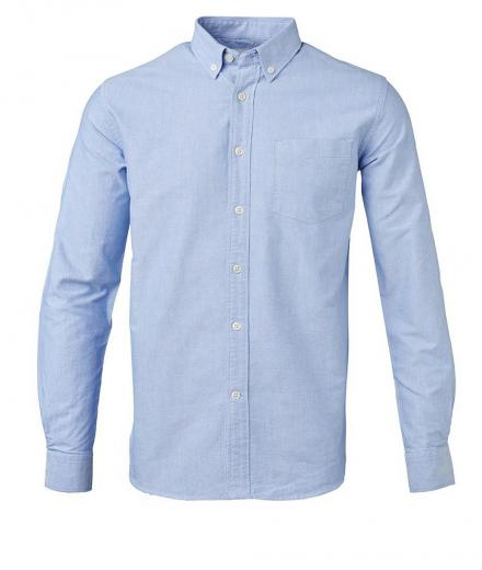 Knowledge Cotton Apparel Button Down Oxford Shirt GOTS Limoges | S