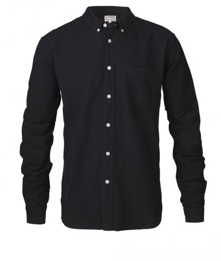 Knowledge Cotton Apparel Button Down Oxford Shirt GOTS Total Eclipse | S