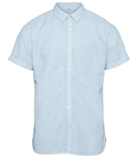 Knowledge Cotton Apparel Cotton Linen Short Sleeved Shirt