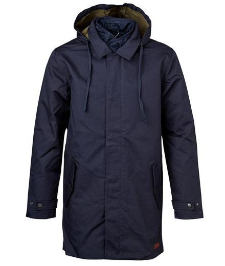 Knowledge Cotton Apparel Double Layer Parca Coat