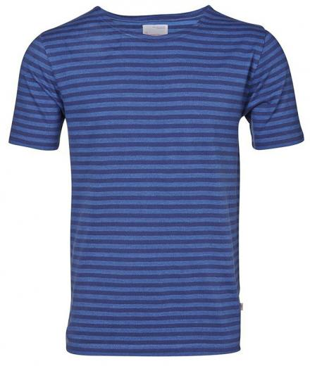 Knowledge Cotton Apparel Jacquard Striped Tee GOTS XL