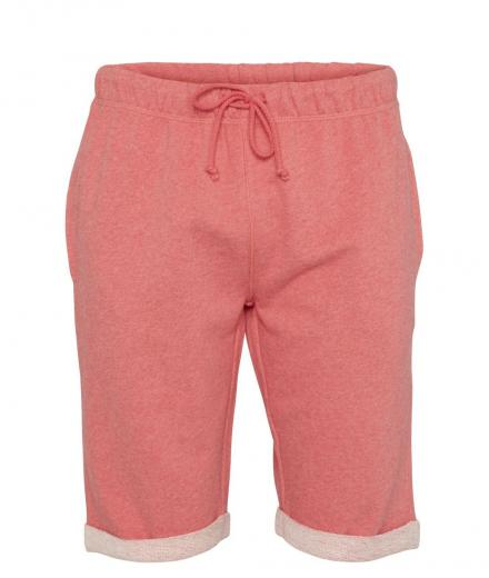 Knowledge Cotton Apparel Melange Sweat Shorts Coral Melange | M