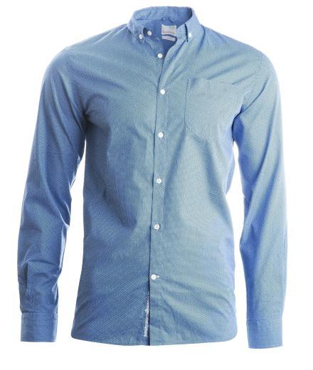 Knowledge Cotton Apparel Poplin Shirt W/All Over Print