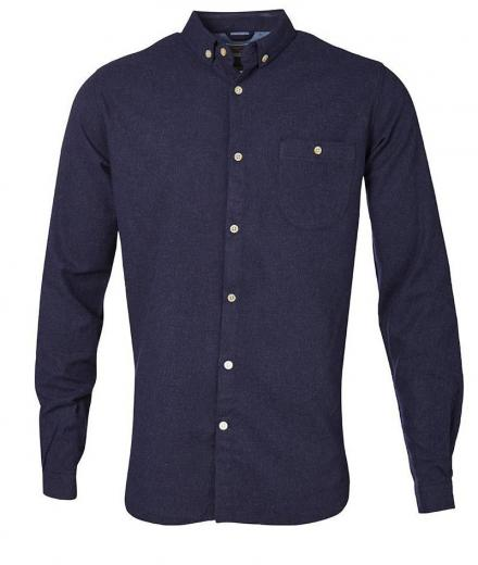 Knowledge Cotton Apparel Solid Col. Flanel Shirt - GOTS 1043 | S