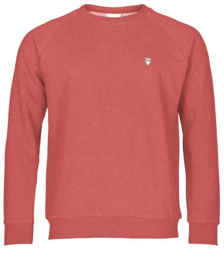 Knowledge Cotton Apparel Sweat Shirt Melange Coral Melange | M
