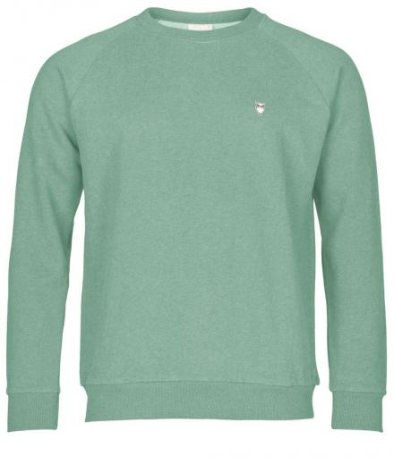 Knowledge Cotton Apparel Sweat Shirt Melange dusty jade green | M