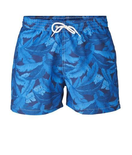Knowledge Cotton Apparel Swim Shorts W/ Palm Print