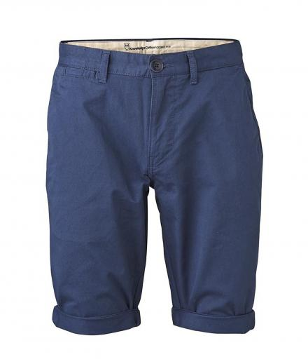 Knowledge Cotton Apparel Twisted Twill Shorts Dark Denim | 36