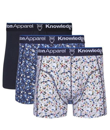 Knowledge Cotton Apparel Underwear 3pack Owl Printed - GOTS