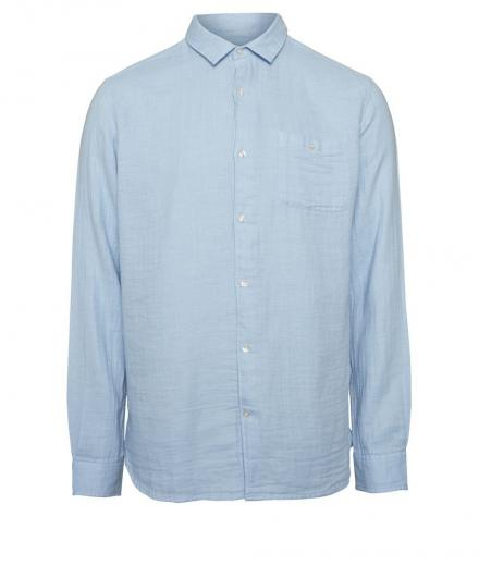 Knowledge Cotton Apparel Double Layer Shirt GOTS Skyway | M