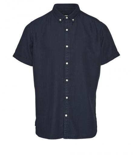 Knowledge Cotton Apparel Short Sleeve Twill Shirt