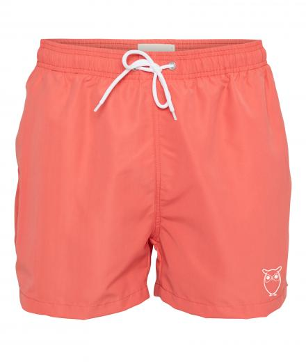 Knowledge Cotton Apparel Swim Shorts Solid Spiced Coral | XL