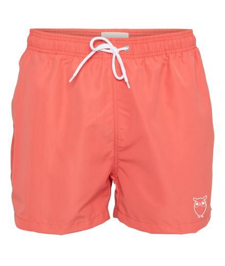 Knowledge Cotton Apparel Swim Shorts Solid Spiced Coral | L