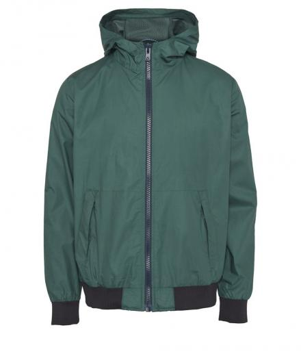 Knowledge Cotton Apparel Sporty Look Hood Jacket Bistro Green