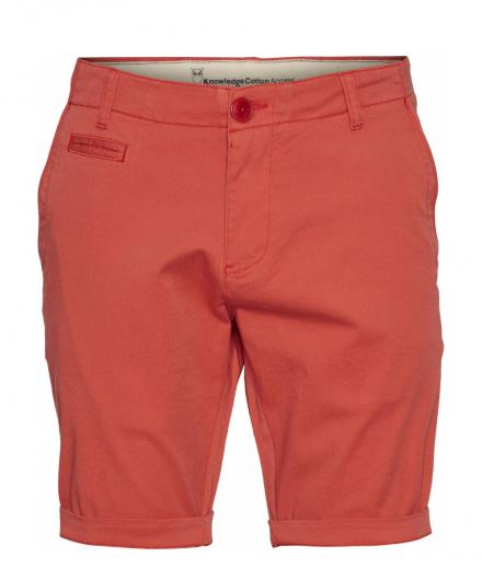 Knowledge Cotton Apparel Stretched Chino Regular Shorts Spiced Coral | 32