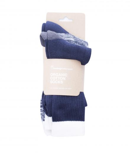 Knowledge Cotton Apparel Tennis Sock 2-Pack Total Eclipse | 38-42